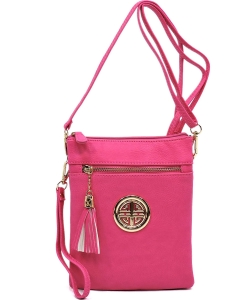 Fashion Logo Hipster Cross Body Bag WU022L FUSCHIA