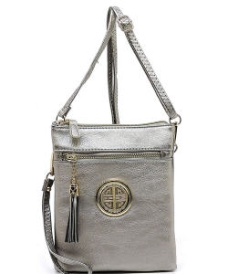 Fashion Logo Hipster Cross Body Bag WU022L LPEWTER