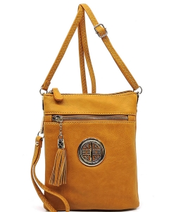 Fashion Logo Hipster Cross Body Bag WU022L MUSTARD
