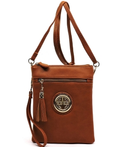 Fashion Logo Hipster Cross Body Bag WU022L TAN