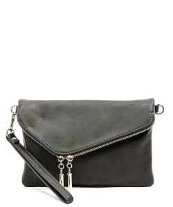 Fashion Envelope Foldover Clutch WU023 CGRAY