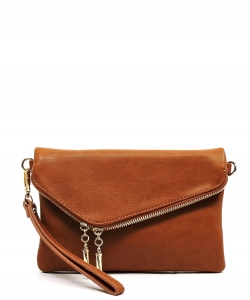 Fashion Envelope Foldover Clutch WU023  TAN