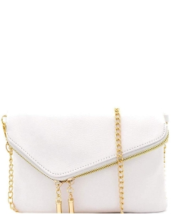 Fashion 2 Way Flap Clutch Bag WU023 WHITE