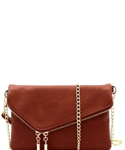 Fashion 2 Way Flap Clutch Bag WU023 COFFEE