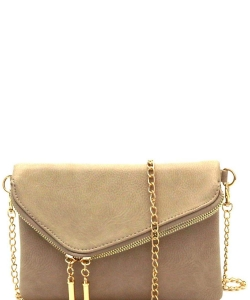 Fashion 2 Way Flap Clutch Bag WU023 STONE