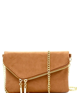 Fashion 2 Way Flap Clutch Bag WU023 TAN
