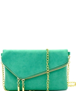 Fashion 2 Way Flap Clutch Bag WU023 TORQUIOSE
