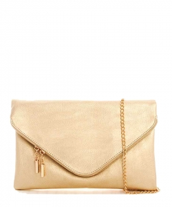 Large Clutch Design Faux Leather Classic Style WU024 GOLD