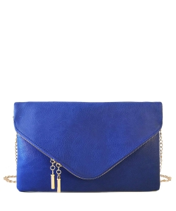 Large Clutch Design Faux Leather Classic Style WU024 RBLUE