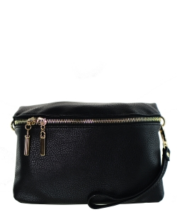 Messager  Simple  Zip-Around WU032 BLACK