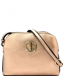 Messenger Handbag Design Faux Leather Classic Style WU040 NC ROSEGOLD
