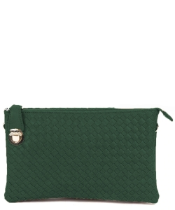 Fashion Woven Clutch Crossbody Bag WU042 OLIVE