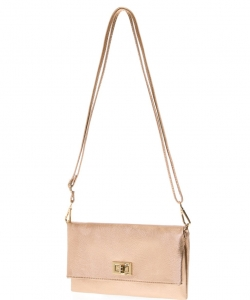 Solene Womens and Girls Small Crossbody Shoulder Bags WU071 ROSEGOLD