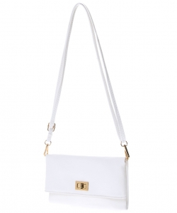Solene Womens and Girls Small Crossbody Shoulder Bags WU071 WHITE