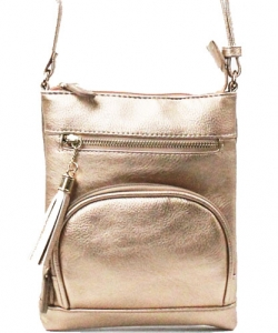 Elegant Fashion Cross Body Bag WU077  ROSEGOLD