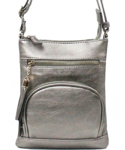 Elegant Fashion Cross Body Bag WU077 LPEWTER