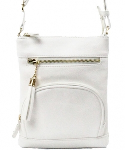 Elegant Fashion Cross Body Bag WU077 WHITE
