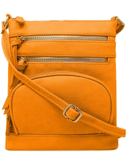 Multi Zip Pocket Crossbody Bag WU078 TOPAZ