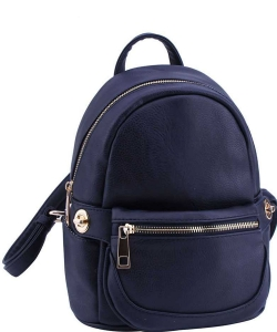 2in1 Modern Chic Backpack with Detachable Front Waist bag WU1091 DSEA