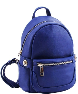 2in1 Modern Chic Backpack with Detachable Front Waist bag WU1091 ROYAL BLUE