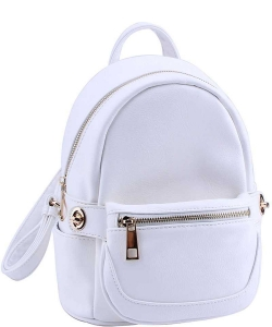 2in1 Modern Chic Backpack with Detachable Front Waist bag WU1091 TQ