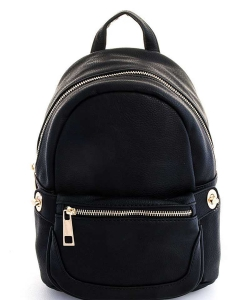 Cute Chic Backpack with Detachable Front Waist Bag WU1095 BLACK