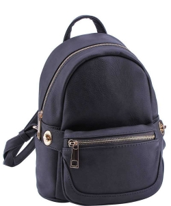 Cute Chic Backpack with Detachable Front Waist Bag WU1095 CHARCOAL GREY