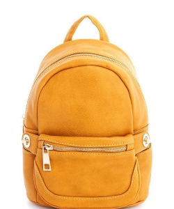 Cute Chic Backpack with Detachable Front Waist Bag WU1095 MUSTARD