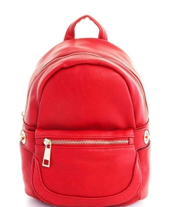 Cute Chic Backpack with Detachable Front Waist Bag WU1095 RED