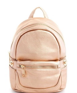 Cute Chic Backpack with Detachable Front Waist Bag WU1095 ROSEGOLD