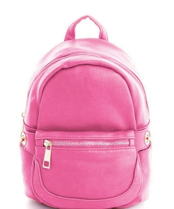 Cute Chic Backpack with Detachable Front Waist Bag WU1095 RASP PINK