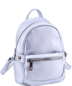 Cute Chic Backpack with Detachable Front Waist Bag WU1095 SILVER