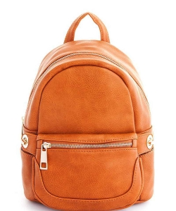 Cute Chic Backpack with Detachable Front Waist Bag WU1095 TAN