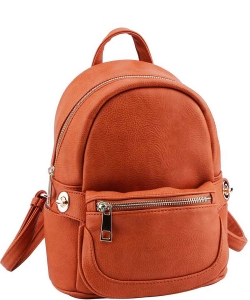 Cute Chic Backpack with Detachable Front Waist Bag WU1095 TOPAZ