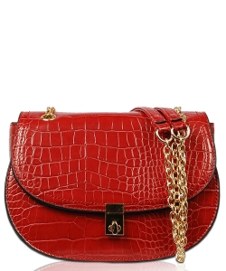Crossbody Bag With Metal Chain XB1805 RED