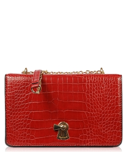 Crossbody Bag With Metal Chain XB1807 RED