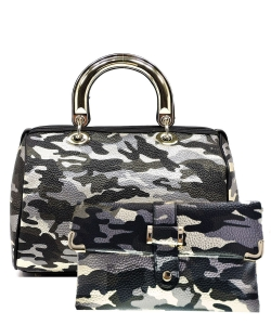 2 in 1 Camouflage Satchel with Clutch Purse YH002 CU006