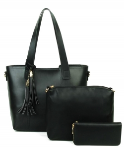 Designer inspired handbag 3-in-1 Bag YH720-BLACK