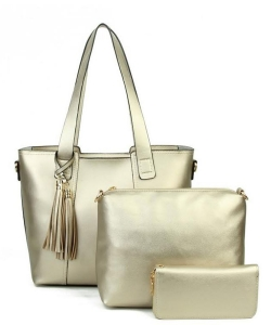 Designer inspired handbag 3-in-1 Bag YH720-CHAMPAGNE