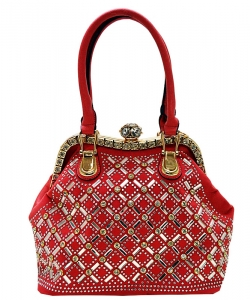 Rhinestone Handbag YL-301 RED