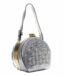 Rhinestone Clutch Purse YN131 SILVER