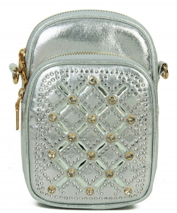 Rhinestone Phone Purse YN132 SILVER